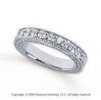 Palladium 9 Stone 1/2 Carat Diamond Anniversary Band
