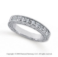 Palladium 9 Stone 1 Carat Diamond Anniversary Band