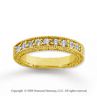 14k Yellow Gold 9 Stone 1 Carat Diamond Anniversary Band