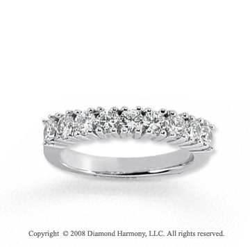 18k White Gold 9 Stone 1 Carat Diamond Anniversary Band