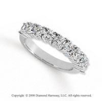 Palladium 9 Stone 1 1/2 Carat Diamond Anniversary Band