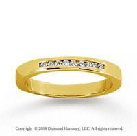 18k Yellow Gold 9 Stone 1/10 Carat Diamond Anniversary Band