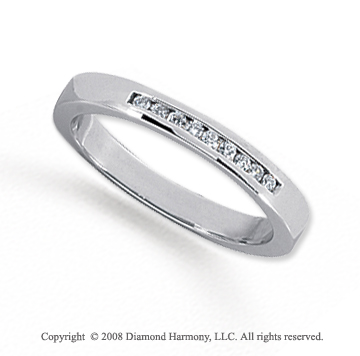 Palladium 9 Stone 1/10 Carat Diamond Anniversary Band