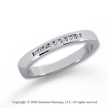 Platinum 9 Stone 1/10 Carat Diamond Anniversary Band