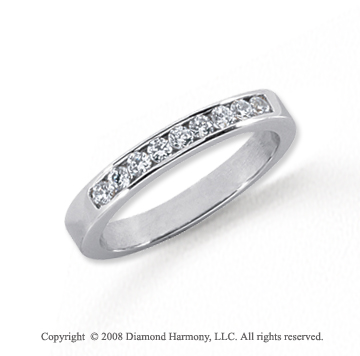 Platinum 9 Stone 1/4 Carat Diamond Anniversary Band