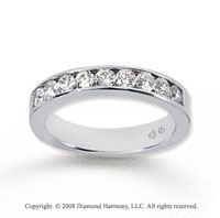 14k White Gold 9 Stone 3/4 Carat Diamond Anniversary Band