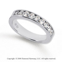 Palladium 9 Stone 3/4 Carat Diamond Anniversary Band