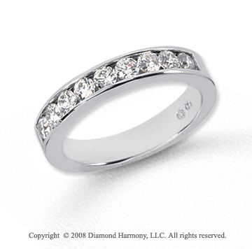 Platinum 9 Stone 3/4 Carat Diamond Anniversary Band