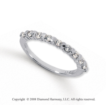 Palladium 9 Stone 1/4 Carat Diamond Anniversary Band