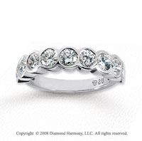18k White Gold 9 Stone 1 3/4 Carat Diamond Anniversary Band