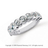 Platinum 9 Stone 1 3/4 Carat Diamond Anniversary Band