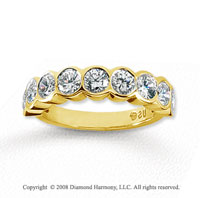 14k Yellow Gold 9 Stone 1 3/4 Carat Diamond Anniversary Band