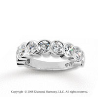 14k White Gold 9 Stone 2 1/4 Carat Diamond Anniversary Band