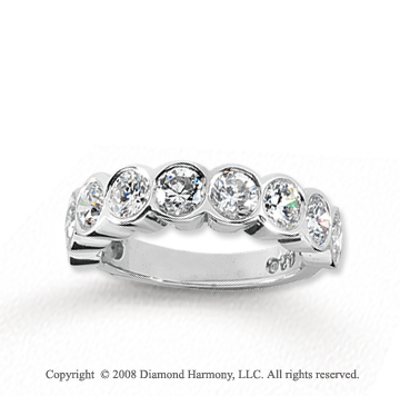 18k White Gold 9 Stone 2 1/4 Carat Diamond Anniversary Band