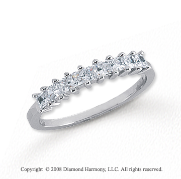 Platinum 9 Stone 1/2 Carat Diamond Anniversary Band
