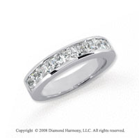 Platinum 9 Stone 1 1/2 Carat Diamond Anniversary Band