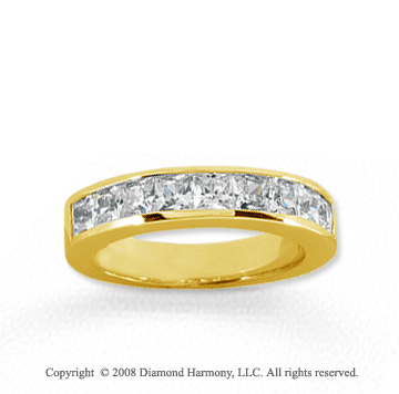 14k Yellow Gold 9 Stone 1 1/2 Carat Diamond Anniversary Band
