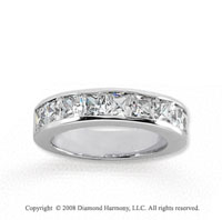 14k White Gold 9 Stone 2 Carat Diamond Anniversary Band