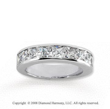18k White Gold 9 Stone 2 Carat Diamond Anniversary Band