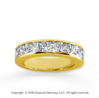 18k Yellow Gold 9 Stone 2 Carat Diamond Anniversary Band