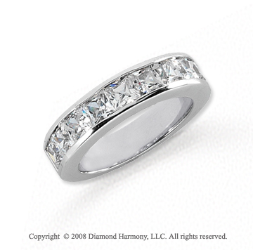 Platinum 9 Stone 2 Carat Diamond Anniversary Band