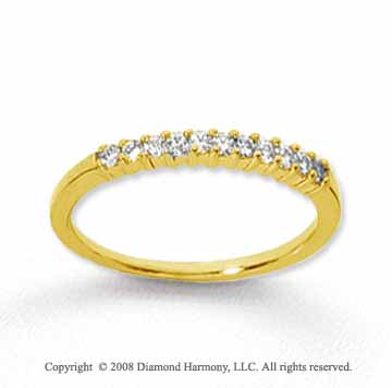 18k Yellow Gold 11 Stone 1/6 Carat Diamond Anniversary Band
