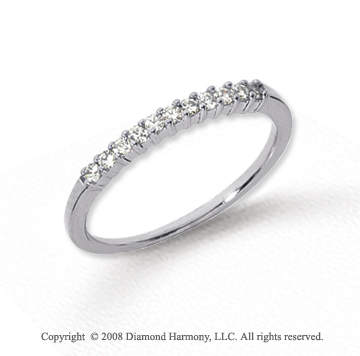 Platinum 11 Stone 1/6 Carat Diamond Anniversary Band