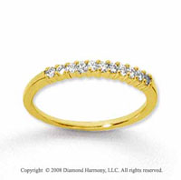 14k Yellow Gold 11 Stone 1/6 Carat Diamond Anniversary Band