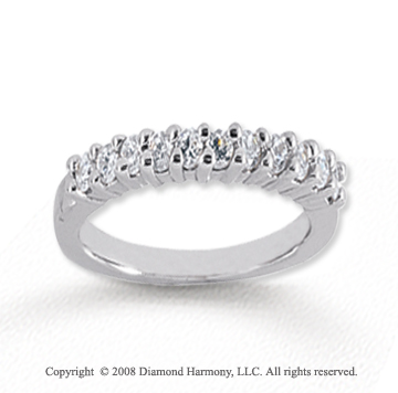 18k White Gold 11 Stone 1/3 Carat Diamond Anniversary Band