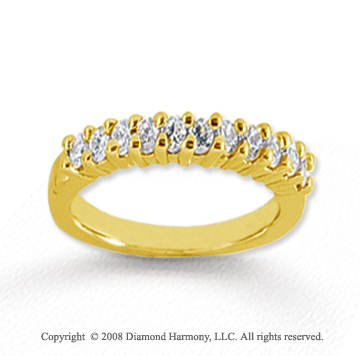 18k Yellow Gold 11 Stone 1/3 Carat Diamond Anniversary Band