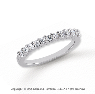 Platinum 11 Stone 1/3 Carat Diamond Anniversary Band