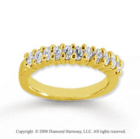 14k Yellow Gold 11 Stone 1/3 Carat Diamond Anniversary Band