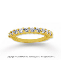 18k Yellow Gold 11 Stone 1 Carat Diamond Anniversary Band