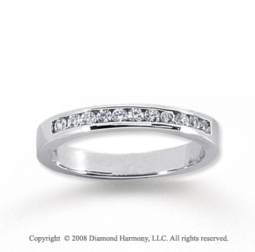 14k White Gold 11 Stone 1/4 Carat Diamond Anniversary Band