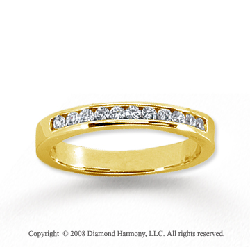 18k Yellow Gold 11 Stone 1/4 Carat Diamond Anniversary Band
