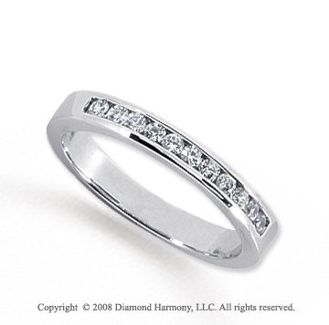 Palladium 11 Stone 1/4 Carat Diamond Anniversary Band