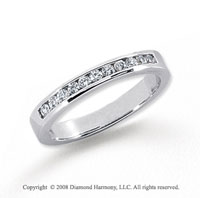 Platinum 11 Stone 1/4 Carat Diamond Anniversary Band