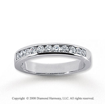 14k White Gold 11 Stone 1/3 Carat Diamond Anniversary Band