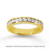 18k Yellow Gold 11 Stone 1/2 Carat Diamond Anniversary Band