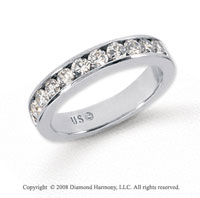 Palladium 11 Stone 3/4 Carat Diamond Anniversary Band