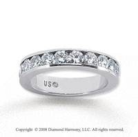14k White Gold 11 Stone 1 Carat Diamond Anniversary Band