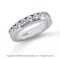 Platinum 11 Stone 1 Carat Diamond Anniversary Band