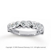 18k White Gold 11 Stone 3/4 Carat Diamond Anniversary Band