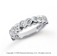 Platinum 11 Stone 3/4 Carat Diamond Anniversary Band