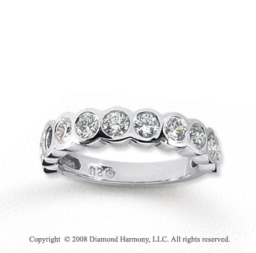 18k White Gold 11 Stone 1 Carat Diamond Anniversary Band