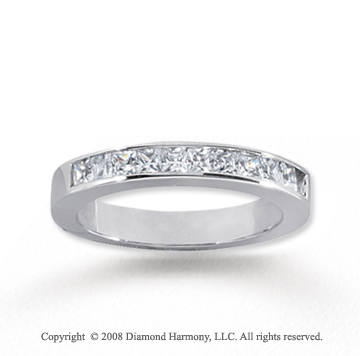 18k White Gold 11 Stone 1/2 Carat Diamond Anniversary Band