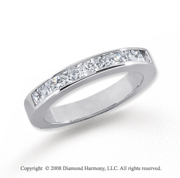 Platinum 11 Stone 1/2 Carat Diamond Anniversary Band