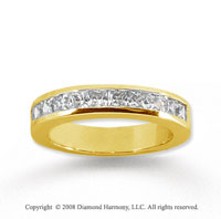 14k Yellow Gold 11 Stone 1 Carat Diamond Anniversary Band