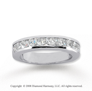 14k White Gold 11 Stone 1 1/2 Carat Diamond Anniversary Band