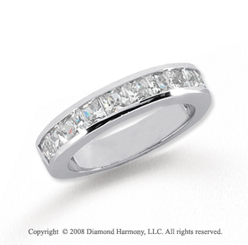 Platinum 11 Stone 1 1/2 Carat Diamond Anniversary Band